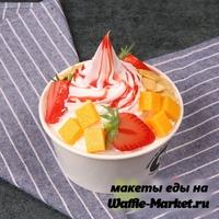 Макет Мороженое в стаканчике №14