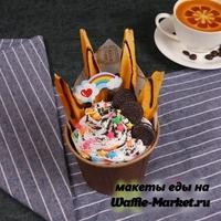 Макет Мороженое в стаканчике №11