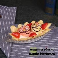 Макет Мороженого на тарелке №6