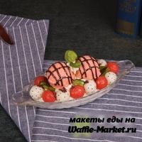 Макет Мороженого на тарелке №2