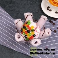 Макет Жареное ролл-мороженое №6