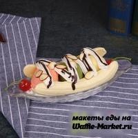 Макет Мороженого на тарелке №3