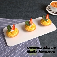 Макет тарталетки с суфле №3