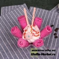 Макет Жареное ролл-мороженое №3