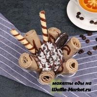 Макет Жареное ролл-мороженое №1